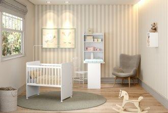 Imagem - Mini Berço Baby Multimóveis 0530.697 Branco MDP cód: 37670