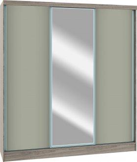 Imagem - Módulo Roupeiro Requinte Castro 6250M 3 Portas c/ 1 Espelho  Moldura Alumínio MDF  cód: 37763