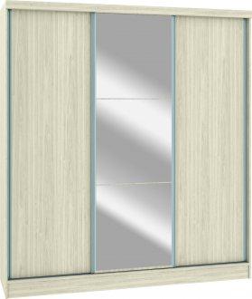 Imagem - Módulo Roupeiro Requinte Castro 6250M 3 Portas UV Com Espelho Colado 100% MDF  cód: 37767