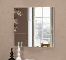 Imagem - Painel Decorativo Escala Espelhado Dalla Costa TB96-PP 100% MDF cód: 38294