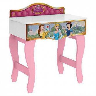 Imagem - Penteadeira Princesa Pura Magia Disney Premium c/Espelho Branco Rosa cód: 35665