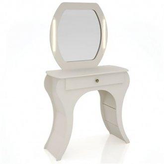 Imagem - Penteadeira Retrô com Espelho com Led TW131L Dalla Costa Off White cód: 2325
