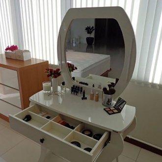 Imagem - Penteadeira Retro com Espelho sem Led TW131 Dalla Costa cód: 2319