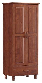 Imagem - Roupeiro 2 Portas 1 Gaveta Finestra Linha Bronze Cor Imbuia cód: 7898414069938