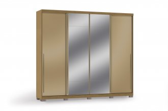 Imagem - Roupeiro Kappesberg 4 Portas de Corre 2P Com espelho D558-FRCH cód: 37456