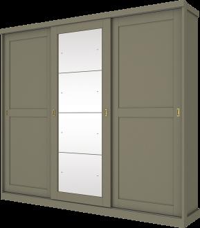 Imagem - Guarda Roupa Henn Olympia 03 Portas Deslizantes 4 Espelhos Duna cód: 35269