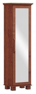 Imagem - Roupeiro Sapateira 1 Porta Com Espelho Linha Ouro Finestra Cor Imbuia cód: 7898414069932