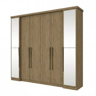 Imagem - Guarda Roupa Henn Serenata 06 Portas 4 Espelhos Rústico  cód: 35292