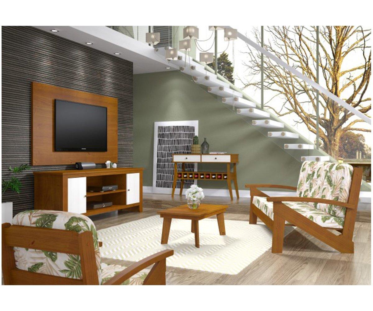 Imagem - Sala de Estar Finestra Rubi Branco com Teca cód: