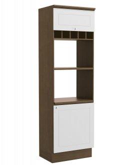 Imagem - Torre Quente Para Forno e Microondas G611 Kappesberg Provenzza Jacaranda com Branco cód: 3140