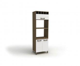 Imagem - Torre Quente Para Forno e Microondas Kappesberg D729 3 Portas Nature com Branco cód: 1172