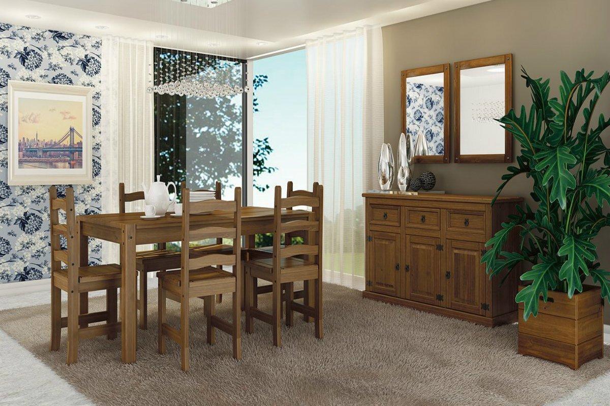 Sala de Jantar completa em Madeira Maciça MPO Imperial