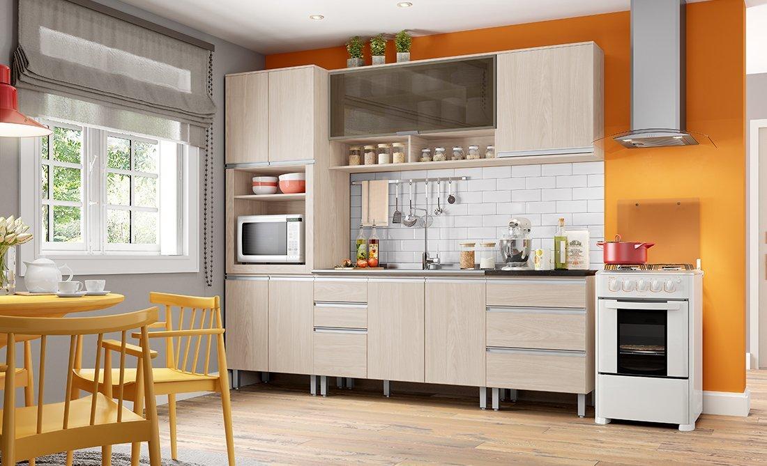 Cozinha Modulada Henn 6 Peças Connect Fendi