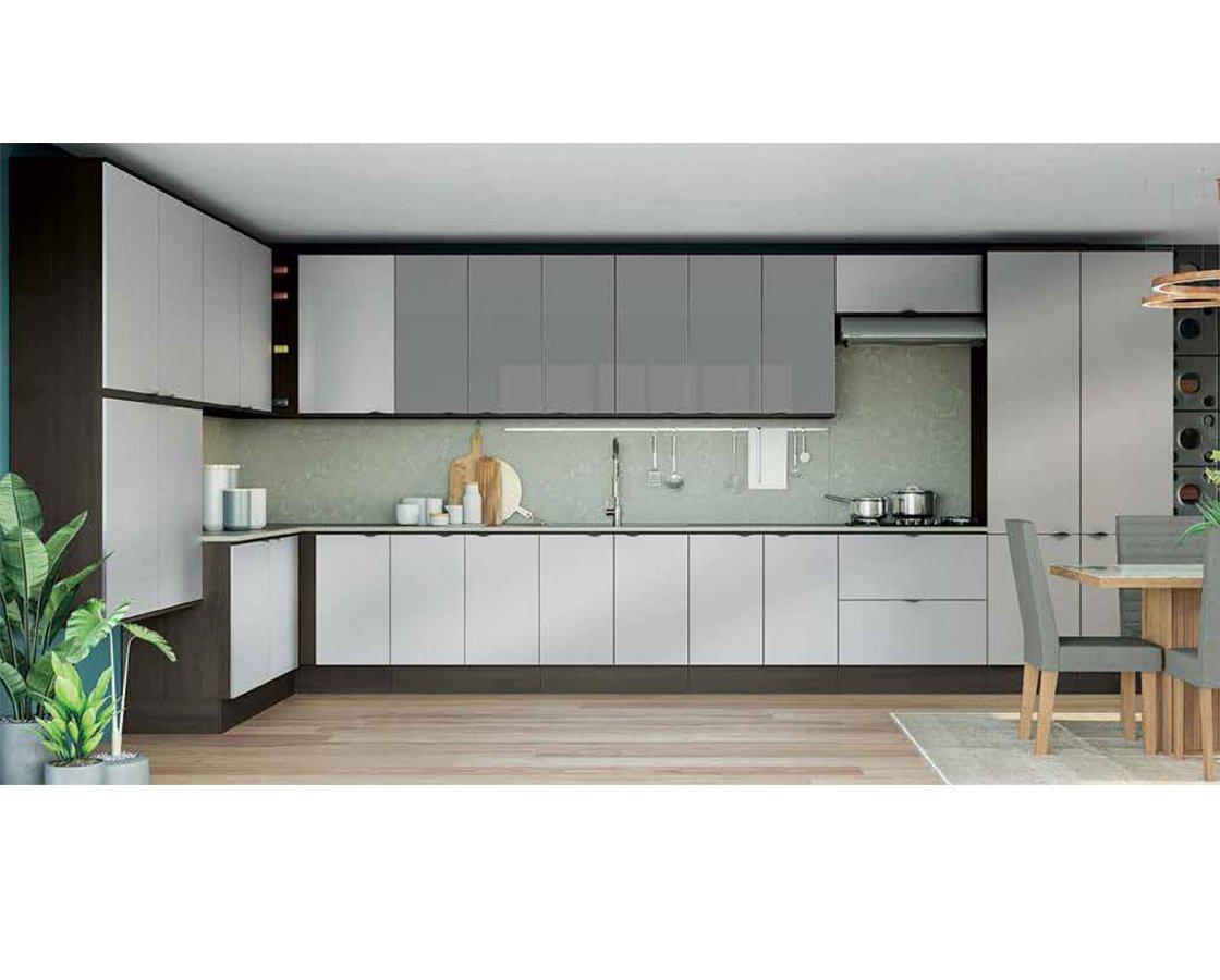 Cozinha Modulada Kappesberg Onix/Steel/Vidro Inox