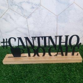 Imagem - CANTINHO DO CAFE DECORATIVO MADEIRA + METAL