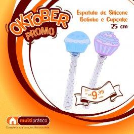 Imagem - ESPATULA DE SILICONE CUPCAKE C/ CABO ACRILICO REF 844731 cód: 7899866230194