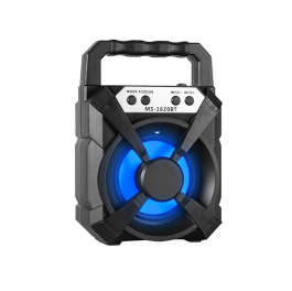 Imagem - MINI RADIO AZUL USB/TF/BLUETH/FM SPEAKER MS1616BT cód: 6900167279261