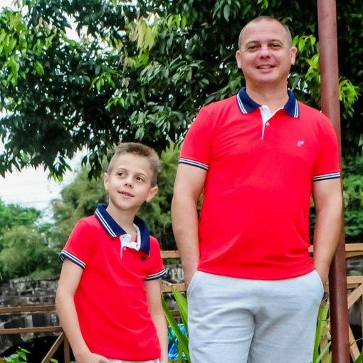 Camisa Gola Polo Bicolor Adulto