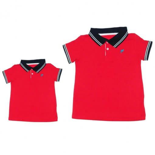 78cd11aeee803 Camisa Gola Polo Bicolor Infantil - Imagem 1