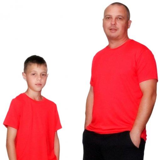 054a98d4121d0e Kit 2 peças T-shirt Vermelho Pai e Filho