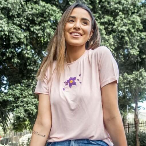 T-Shirt Viscose Adulto | Flor