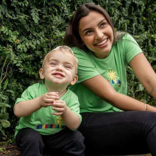 T-Shirt Viscose Infantil | Arco Íris