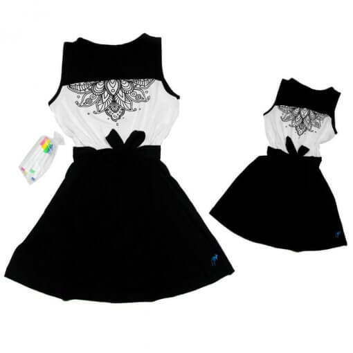 Vestido Mandala Pala Arredondada Infantil
