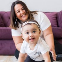 Imagem - T-Shirt menina Bebê e Infantil - Estampa Rosas - 11421/11420