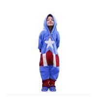 Imagem - Macacao Infantil Capitao America Zona Criativa ref: 10071140 3-4