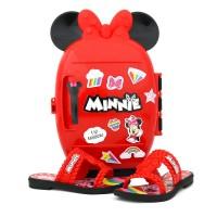 Imagem - Chinelo Grendene Minnie Infantil Com Brinde ref: 22491 BRINDE