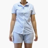 Imagem - Conjunto Pijama Clássico Botões Com Bolso Nadia Carvalho ref: 1535