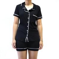 Imagem - Conjunto Pijama Clássico Botões Com Bolso Nadia Carvalho ref: 1501