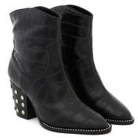 Imagem - Bota New Western Croco Studs Black Schutz ref: S20681-0003