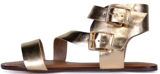 Sandalia Carrano Fivelas Metalizada 354004