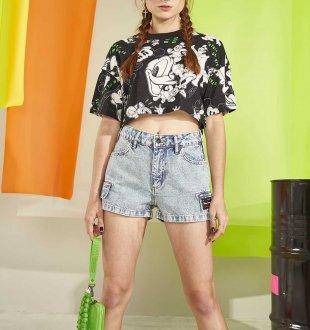 Imagem - Camiseta Cropped Colcci Fun Disney Estampada 034.53.00709