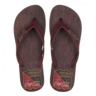 Chinelo Coca Coca Vintage Wood Cc2744