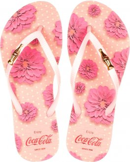 Chinelo Coca Cola Flower Spirit Cc2672