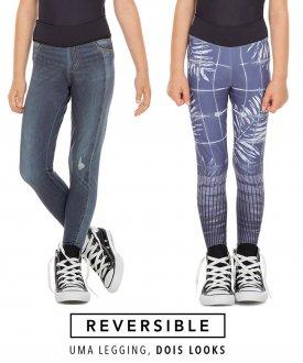 Legging Live Reversible Jeans Jurerê Kids 83736