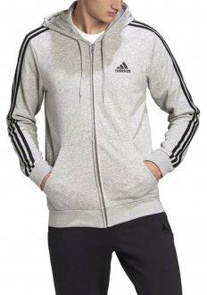 Imagem - Moletom Capuz Ziper Essential 3 Stripes Adidas Gk9034