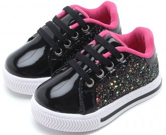 Tenis Pampili Mini Blog Glitter 476010