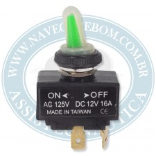 BOTAO INTERRUPTOR ON-OFF 12V 16A