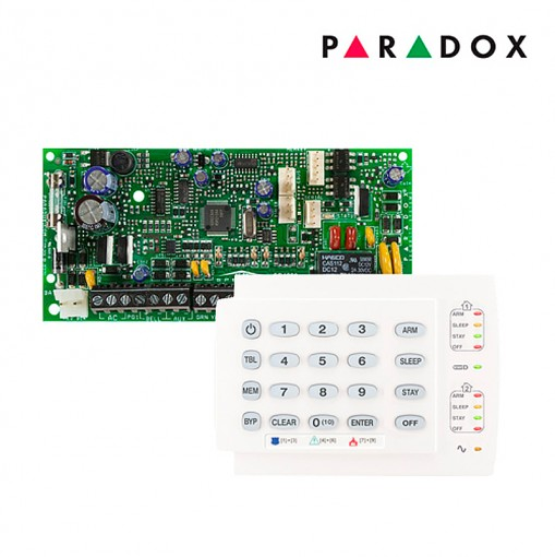 Alarme Residencial Monitorado Paradox SP4000 com Teclado K10H