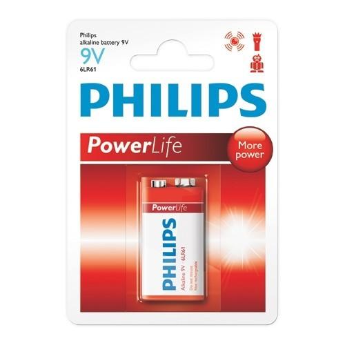 Bateria Alcalina Philips 9V PowerLife
