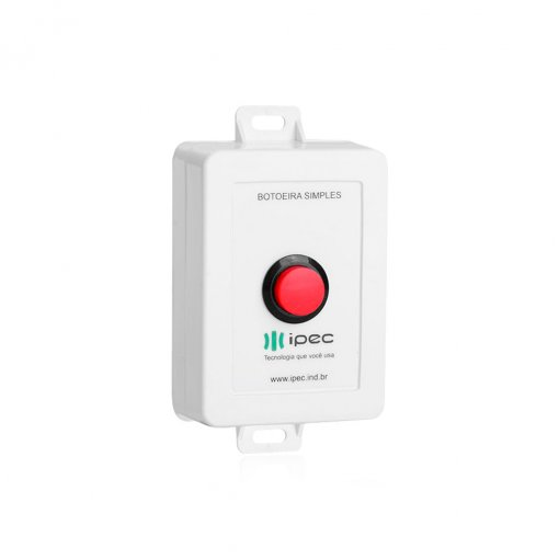 Botoeira Eletrônica Para Fechaduras NA/NF Com Fio IPEC Para Uso Interno