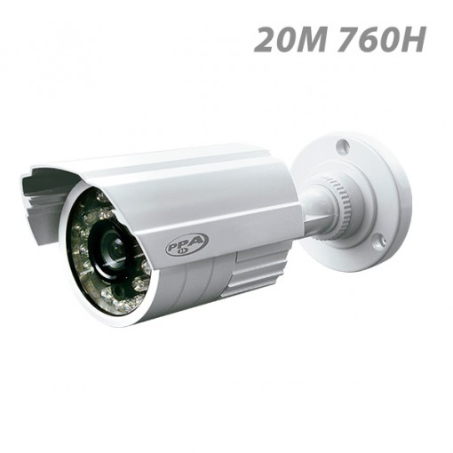 Câmera de Segurança Infravermelho bullet 20 metros externa PPA 760 Linhas CCD 3,6mm