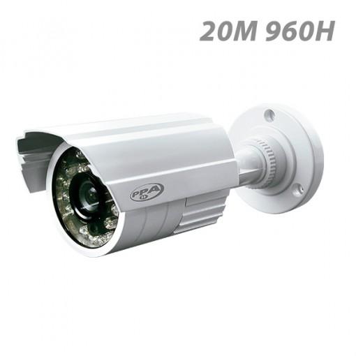 Câmera de Segurança Infravermelho bullet 20 metros externa PPA 960 Linhas CCD 3,6mm