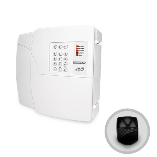 Central de Alarme Residencial 4 Setores Codigus 4D PPA Com Discadora e Controle