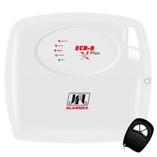 Central de Cerca Elétrica Eletrificador com Alarme ECR-8 Plus JFL