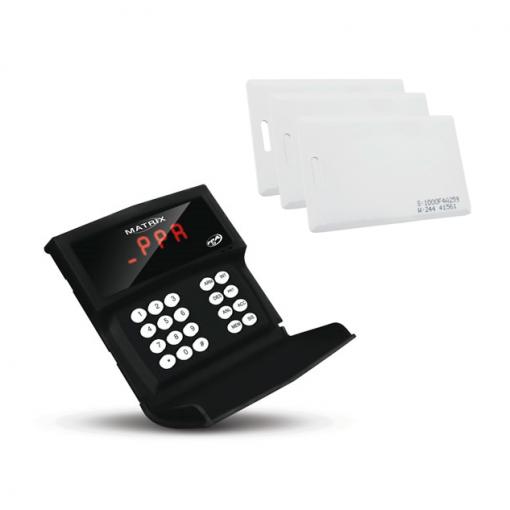 Controle de Acesso Receptor para Alarmes e Portões Matrix PRO Com Receptor para Cartões de Proximidade