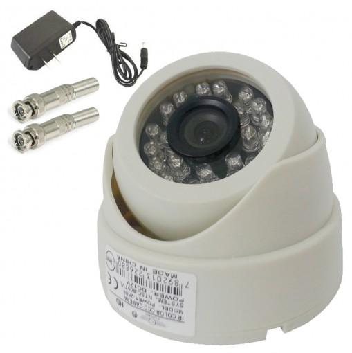 Dome Câmera IR 24 Leds 1/3 CCD 700TVL 3,6mm (Visão noturna de 20) AP-2005 + Grátis: Fonte 12V 1A